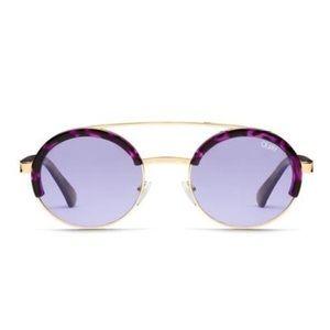NEW Quay Come Around Purple Tortoise Sunglasses 🌿